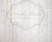 3.5ft x 3.5ft Vinyl Photography Backdrop for Accessories / White Textured Wood