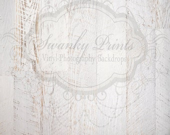 5ft x 5ft Vinyl Photography Backdrop for Accessories / White Textured Wood