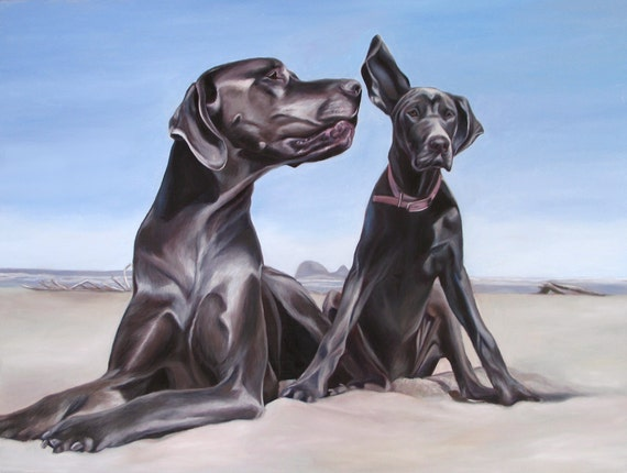 CUSTOM PET PORTRAIT - Oil Painting - Dog Painting - Great Dane - Custom Portrait