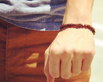 Mens Square Wood Bracelet