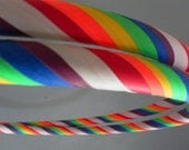 Taped Polypro NEON Rainbow - collapsible model with push button: All gaffer's grip tape ROYGBIV plus white