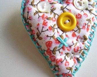 Just a happy handmade heart-brooch