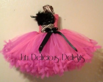 Hot Pink With A Touch Of Leopard Petti Tutu Dress