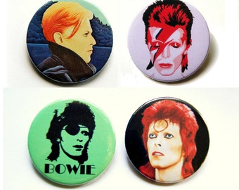 David Bowie - button badge or magnet 1.5 Inch