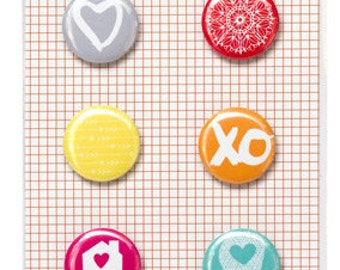 Amy Tangerine Plus One Flair Adhesive Badges -- MSRP 4.00