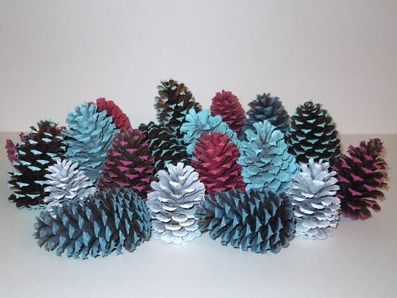 Painted Pine Cones Centerpiece Pinecones Craft Supplies