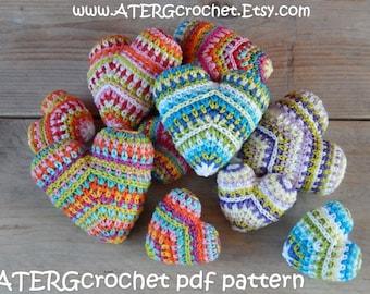 Crochet pattern HEART mini & maxi by ATERGcrochet
