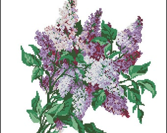 Instant Download Counted Cross Stitch Chart PDF Pattern N99ld - Lilac