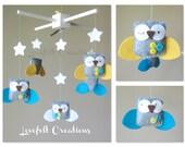 Baby Crib Mobile - Baby Mobile - Owl Mobile - Neutral Mobile - You can Customize your colors :)