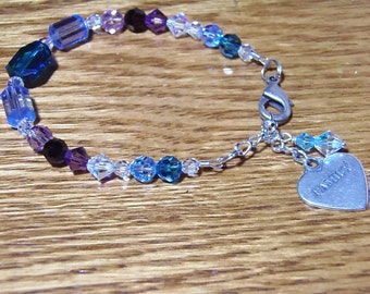 MOTHER'S DAY! Family Birthstone Swarovski Crystal Bracelet for Mothers and Grandmothers - Designed for Each Individual