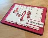 Card - Valentine - Stay Warm (Pink)