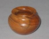 Tea Tree Turned Wood Miniature Pot