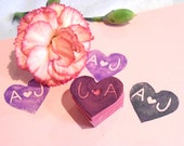 Personalized Heart stamp - Bride & Groom Initials for Wedding Save the Dates Wedding Invitations Envelopes Guest Book Engagement Bride