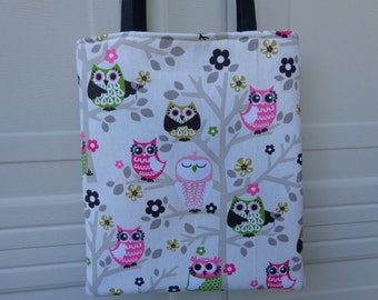 Reversible Tote Bag: Owl 2