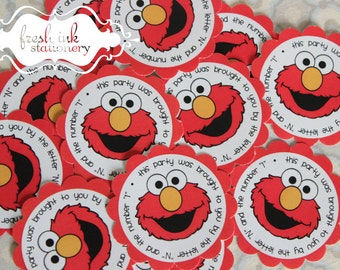 Elmo Personalized Stickers