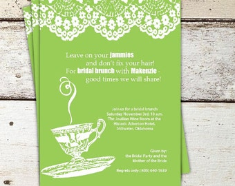Bridal Tea Party/Shower Invitation