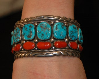 Highdesertturquoise in addition J060 63 further Vintage OSCAR ALEXIUS Navajo Large STERLING SILVER TURQUOISE Cuff Bracelet 311903237501 Ebay together with Turquoise Southwest Style Jewelry likewise 116803695012. on oscar alexius jewelry