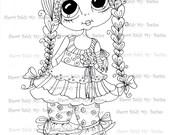 INSTANT DOWNLOAD Digital Digi Stamps Big Eye Big Head Dolls Digi  My Besties IMG019 By Sherri Baldy