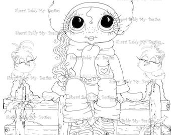 INSTANT DOWNLOAD Digi Stamps Big Eye Big Head Dolls Digi Bestie IMG100010 AB By Sherri Baldy