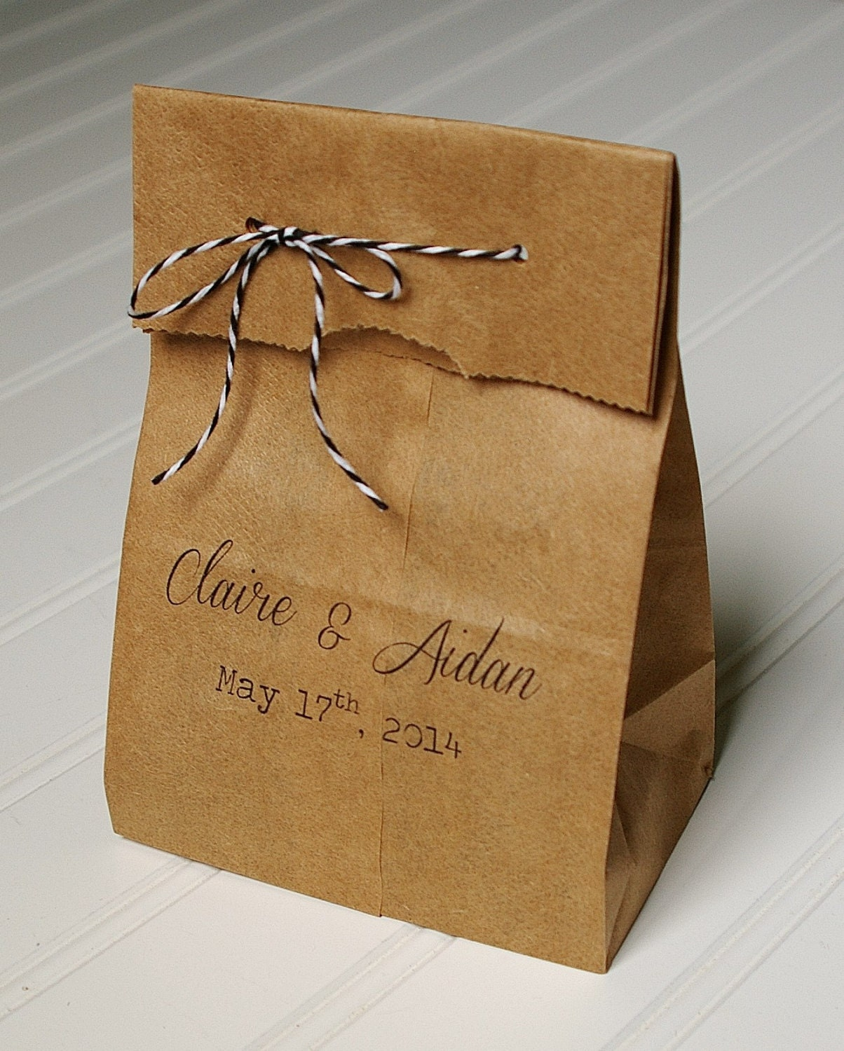 Personalized Wedding Favor Bags Candy Bags. Kraft by AnnaLouAvenue