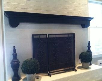 Fireplace mantle wall shelf - wall ledge