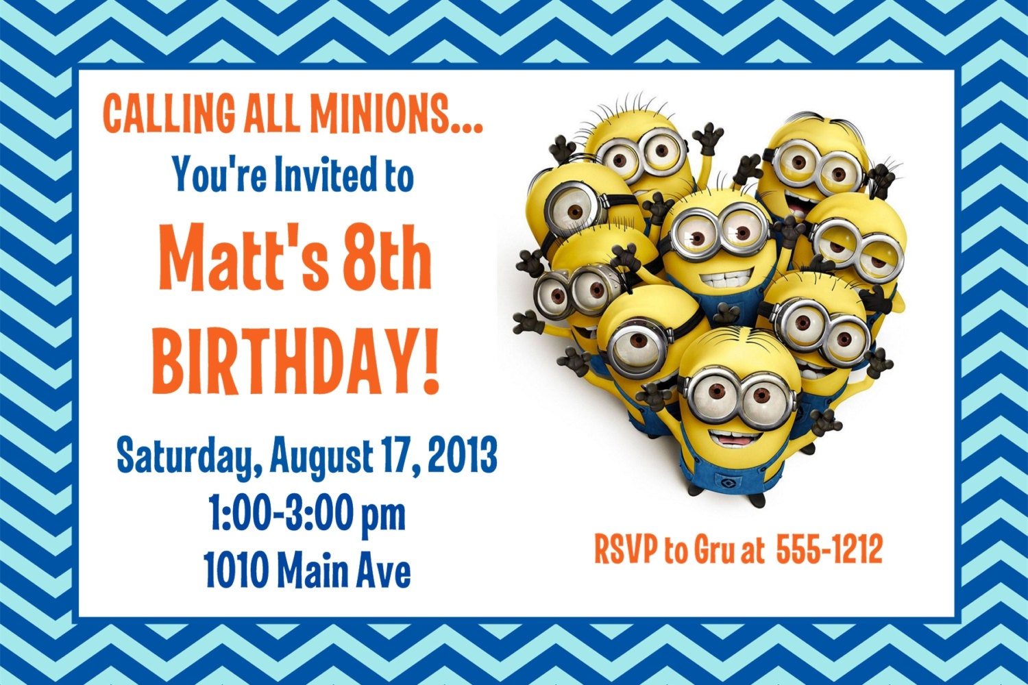 Luscious image in minions printable invitations