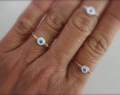 Evil eye ring sterling silver gold-filled and rose gold-filled