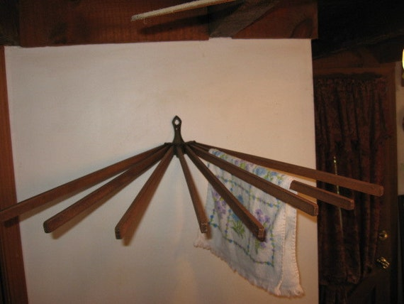 Vintage Clothes Drying Dryer Rack Wall By Findsandfurnishings