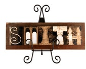 Wall Art Letter Art Alphabet Photos on Authentic American Barnwood. Rustic  make unique personalized gifts.  No frame needed.  Free proof.