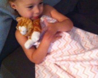 Monogrammed Cuddle Critter blanket