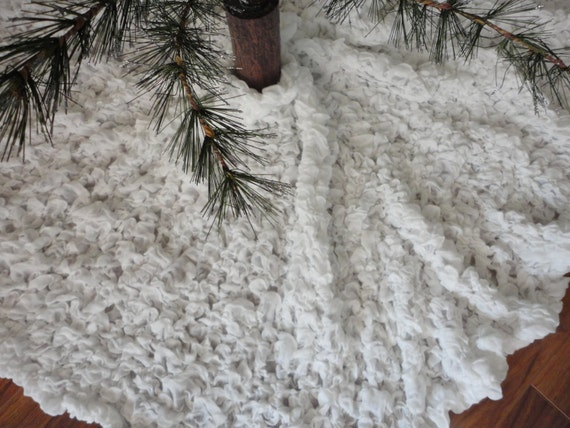 Christmas tree skirt shabby chic snow white sold