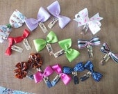 Mixed lot of 16 hair clips / great for pig tails or buns