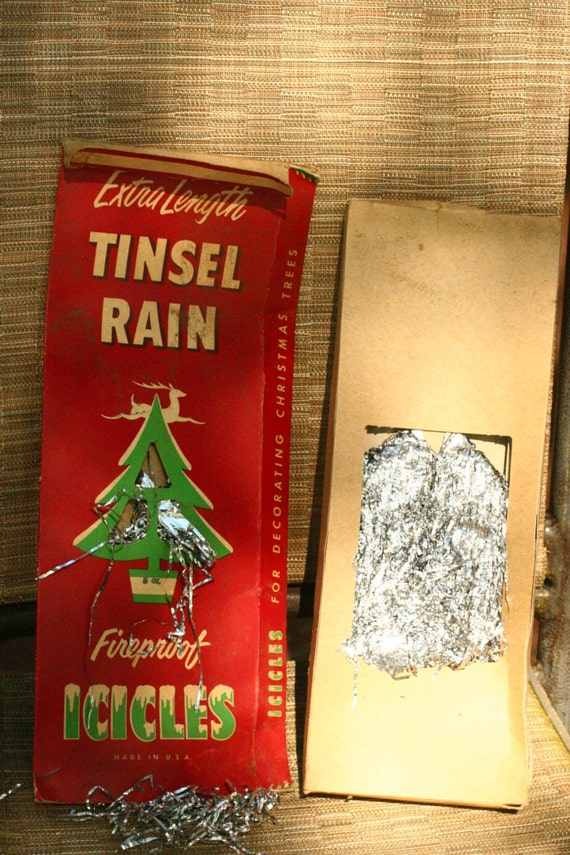 Items similar to vinage tinsel fireproof