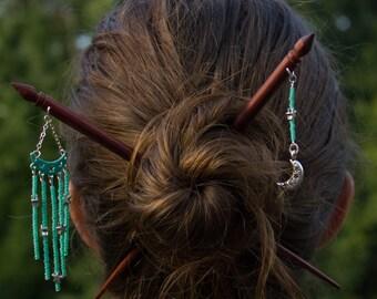 Lunar hairsticks