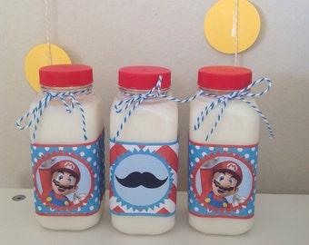 Mario Bottle Wrappers - Super Mario - Mario Bros - Party Supplies-INSTANT DOWNLOAD