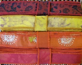 Silk Sari Ribbon, Silk Trim, 4 colors, A31