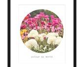 Printable Art Photography Print Colour My World Flower 8x10