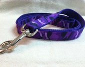 Purple Camouflage Custom Dog Leash