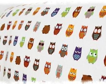 Fat Quarter of Kawaii Japanese Cotton Linen Fabric -  Small Owl Combo