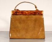 Art Deco French HandBag Bakelite Leather
