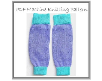 Legwarmers Pattern Child To Large Adult Easy Knit Machine Knitting Quick And Easy Project Stocking Filler Stuffer