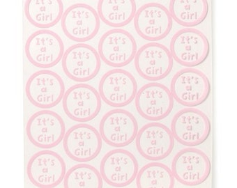 It's A Girl Sticker Seals (50pc)