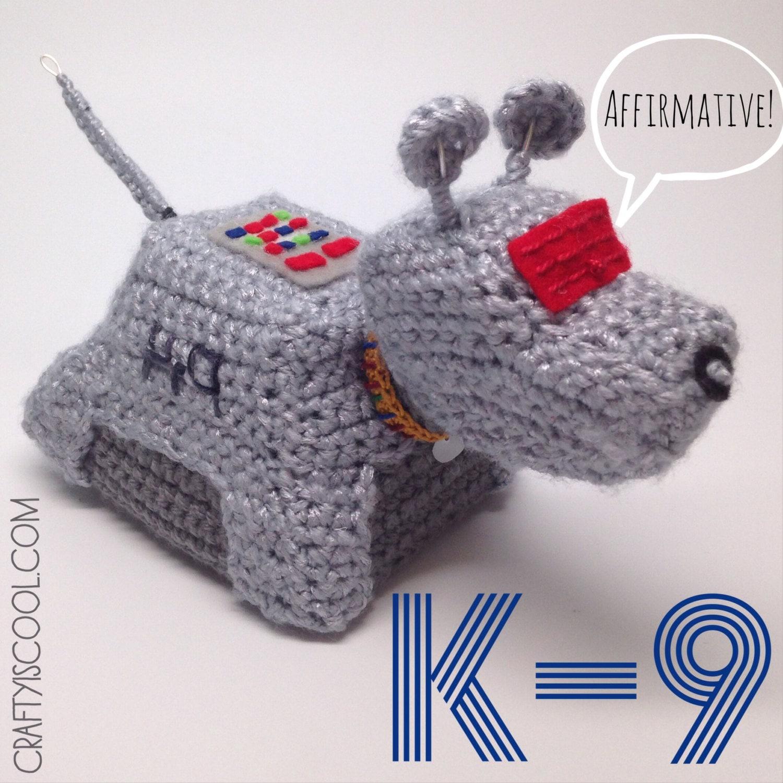 Doctor Who K-9 Amigurumi Crochet doll Pattern
