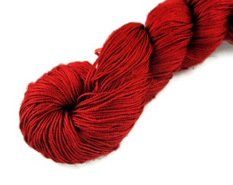 Silk Yarn LaceWeight, Maharaja Silk yarn, RED, Valentine's Day, Gift for her