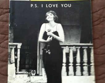 OPENING NIGHT Playbill  from 1964 Broadway Flop, P.S. I Love You starring Geraldine Page.