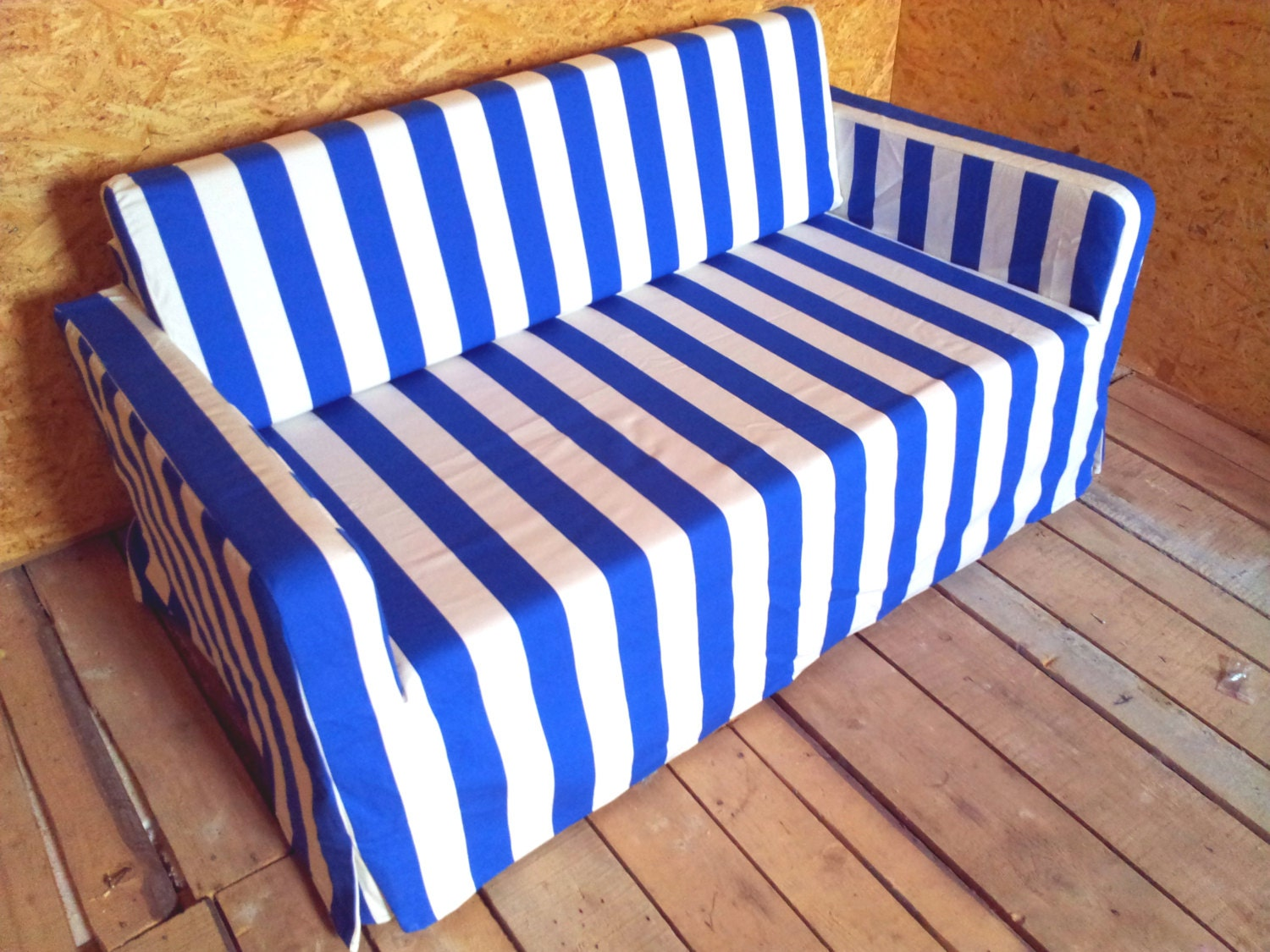 Slipcover For Solsta Sofa Bed From Ikea Nice Blue Stripes