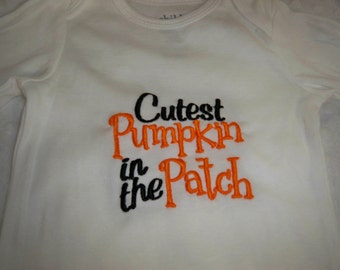 Halloween Baby Outfit - Cutest Pumpkin in the Patch Bodysuit - Baby Halloween  Baby's First Halloween Baby Boy Halloween Baby Girl Halloween