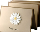 Thank You Cards, simple thank you notes, handmade thank you cards, daisy cards