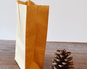 Mini Kraft Lunch Bags treat bags Paper Bags Candy Buffet Bags 100
