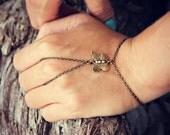 butterfly slave bracelet, bracelet ring, slave ring, butterfly ring, boho bracelet, ring bracelet
